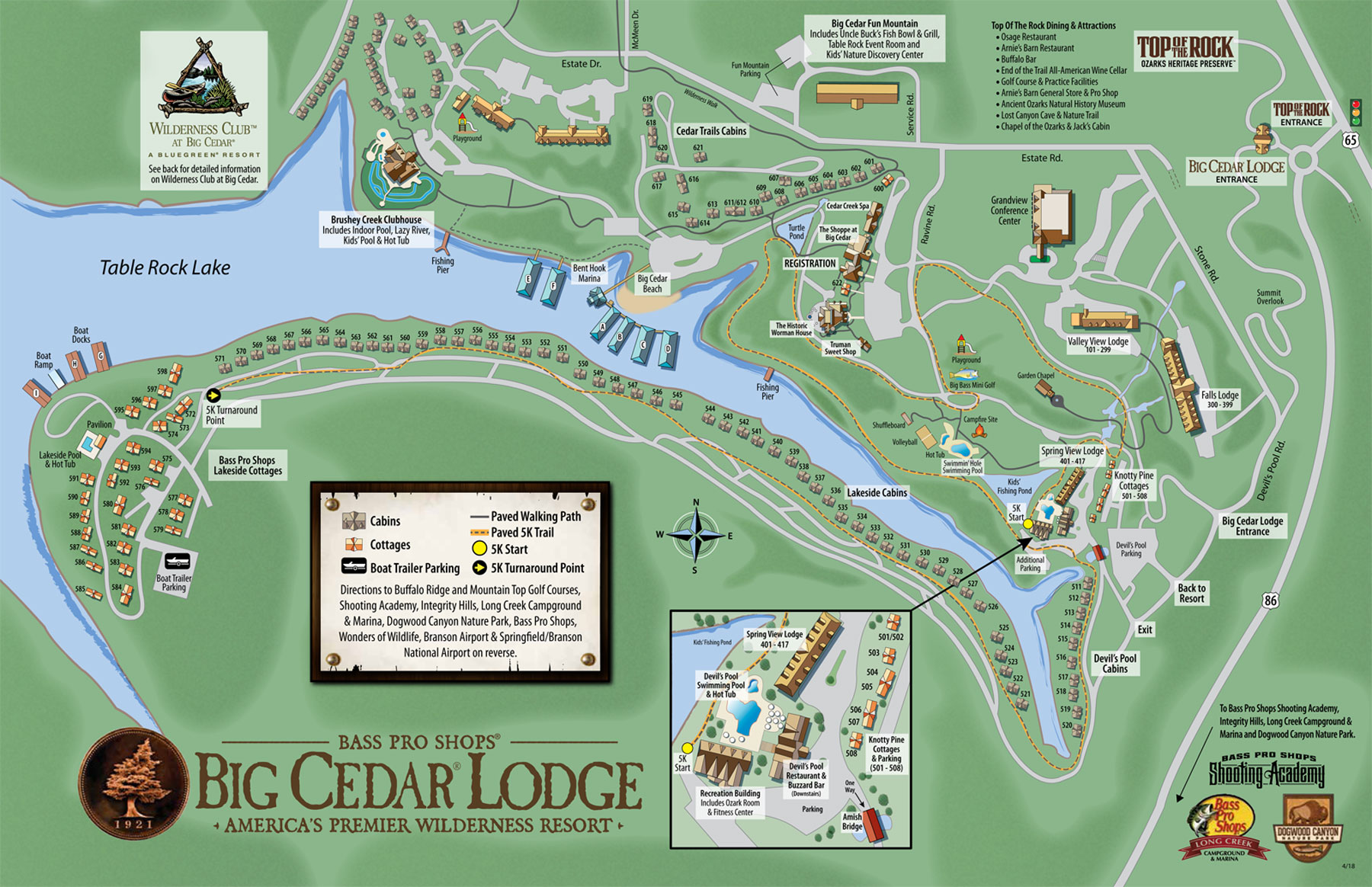 Big Cedar Lodge Property Map
