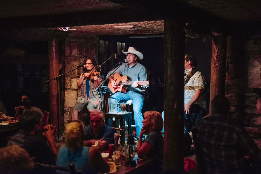 Buzzard Bar evening entertainment with vocalist and guitar player Clay at Big Cedar