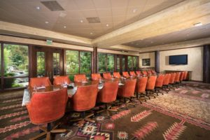 Dogwood Boardroom set for 14 guests at the Grandview Conference Center at Big Cedar