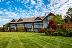 Grandview Conference Center exterior large outdoor lawn space at Big Cedar.