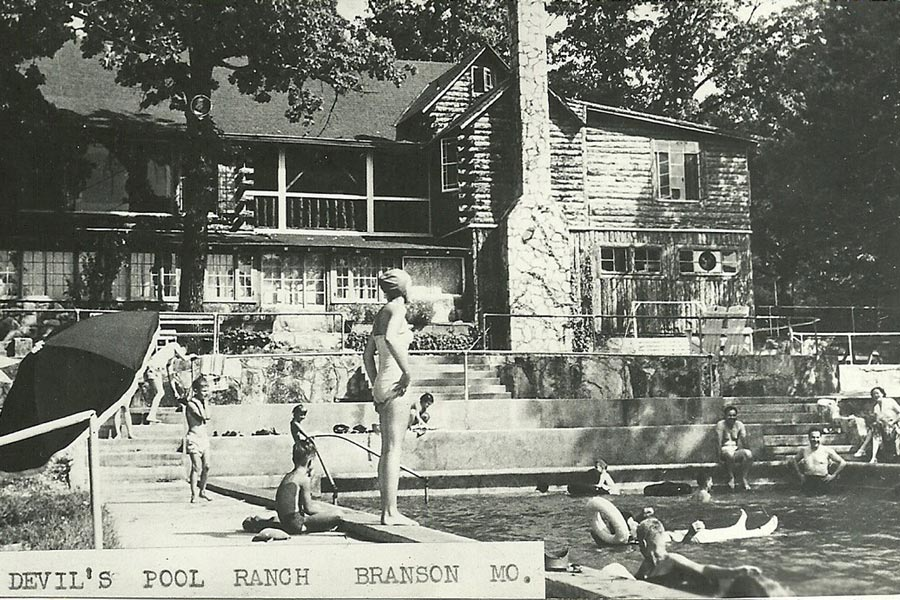 Devil's Pool Ranch photo from early days at the pool.