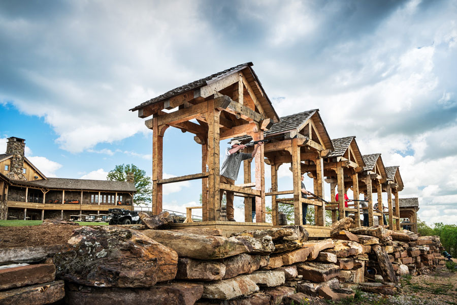 Bass Pro Shops Shooting Academy at Big Cedar at shooting stands