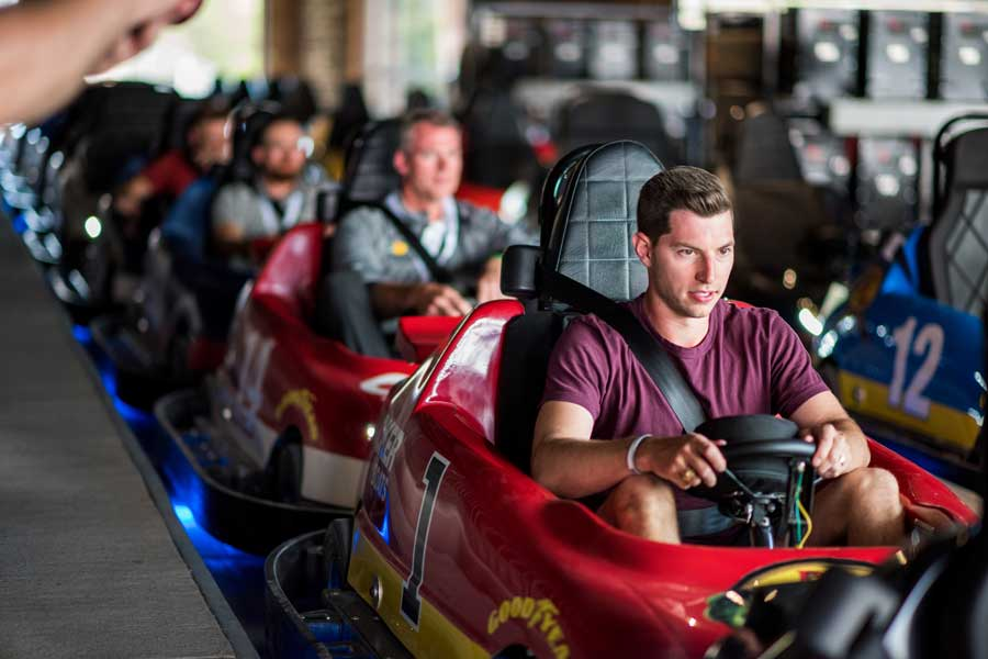 Adults enjoy Go-Karts at Fun Mountain at Big Cedar