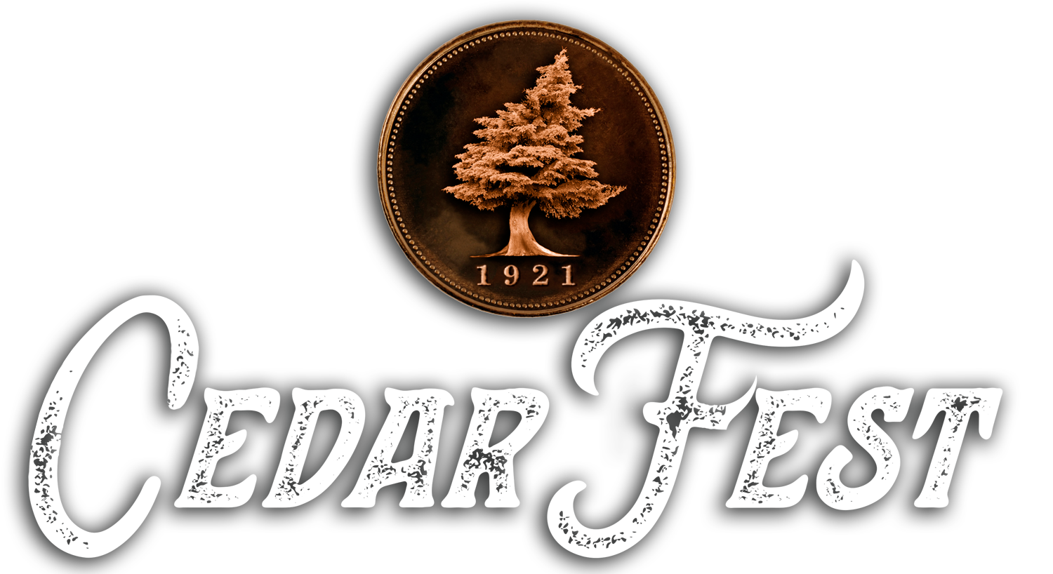 Cedar Fest Logo with Drop Shadow