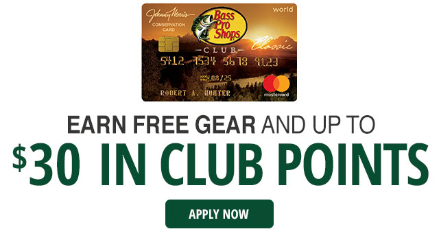 Earn free gear and up to $30 in Club points - Apply Now