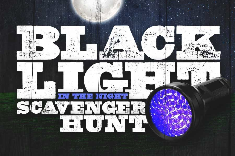 Black Light in the Night Scavenger Hunt Logo