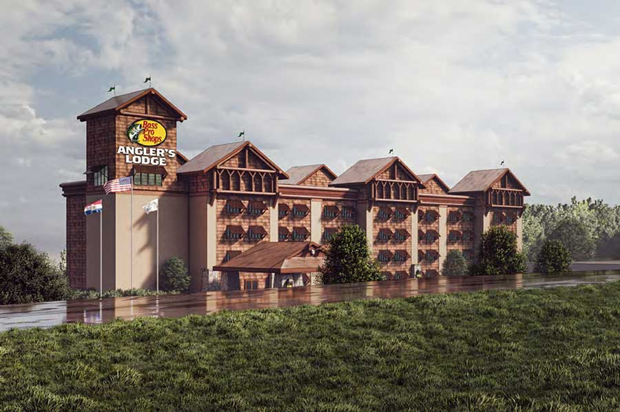 Angler's Lodge Hollister Building rendering