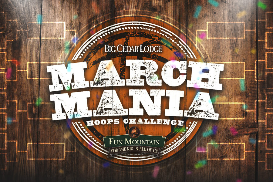 Fun Mountain March Mania Hoops Challenge Logo