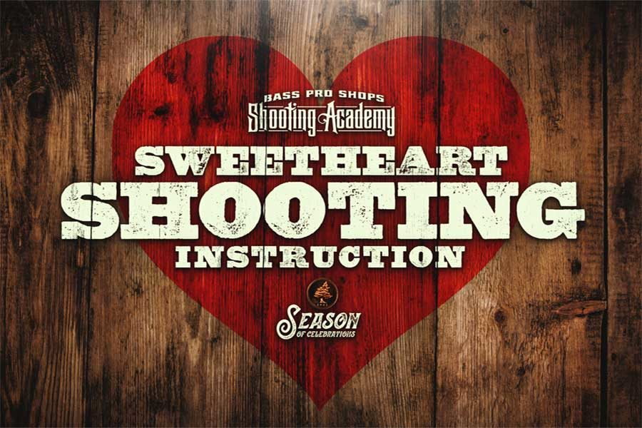 Bass Pro Shops Shooting Academy Sweetheart Shooting Instruction Logo