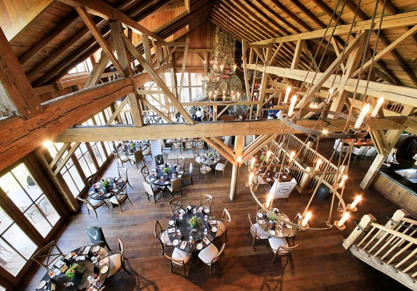 Arnie's Barn restaurant at Top of the Rock at Big Cedar loft view