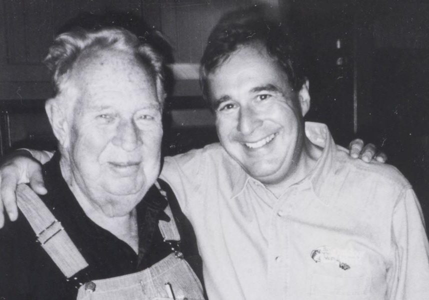 John A and Johnny L. Morris, father and son, together smiling at the time when Big Cedar Lodge was just the beginning
